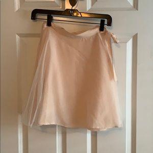 BCBGeneration blush wrap ballerina skirt